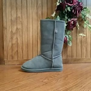 Grey Shearling Bjorndal Boots Shoes